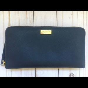 Kate Spade Navy Blue Continental Wallet